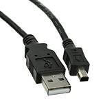 USB Type A Male / Mini-B Male Cable, 4 Pin, Black, 6 ft