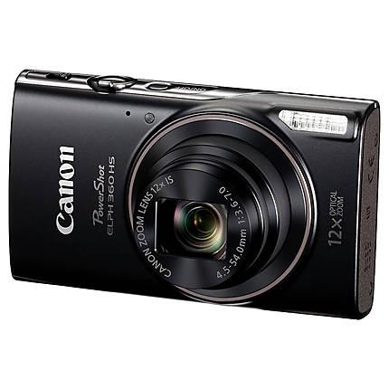 Canon PowerShot ELPH 360 HS Digital Camera - Black