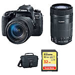 Canon EOS 77D DSLR with 18-55mm STM  and  55-250mm IS STM