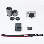 Canon EOS M100 Mirrorless Digital Camera with 15-45mm  and  55-200mm (White)