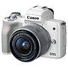 Canon EOS M50 Mirrorless Camera with 15-45mm Lens - White