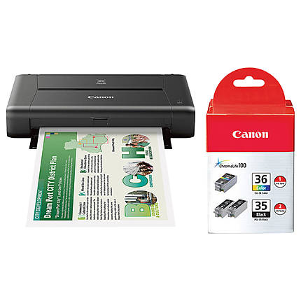 Canon PIXMA iP110 Wireless Compact Mobile Printer with Inks Value Pack Kit
