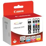 Canon PGI-225/CLI-226 4 Color Pack for Canon Pixma MX882 MG6120 and MG8220