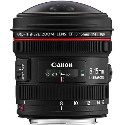 Canon EF 8-15mm f/4L Fisheye USM Ultra-Wide Zoom Lens - Black