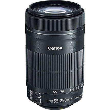 Canon EF-S 55-250mm f/4-5.6 IS STM Telephoto Lens - Black