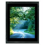 11x14 Custom Black Metal Frame, Black Mat with Glass