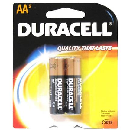 Duracell AA 2-Pk Alkaline Battery Imported