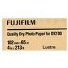 Fujifilm 4x213 DX100 Inkjet Paper Lustre for Frontier-S DX100 Printer