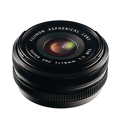 Fujifilm Fujinon XF 18mm f/2 R Wide Angle Lens for Fujifilm X-Pro1 - Black