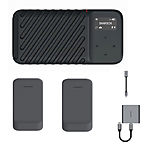 GNARBOX 2.0 SSD (1TB) Rugged Backup Device w/2x Batteries, CF Reader,  and  Dong