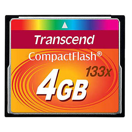 Transcend 4GB 133x Compact Flash Memory Card