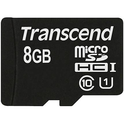 Transcend 8GB UHS-1 Class 10 Micro SDHC Memory Card - SEE GND2343 (16GB)