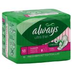Always Ultra Thin Pads Regular 18ct w/Flex Wings