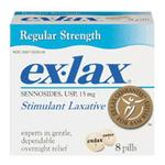 Ex-Lax Laxative Pills 8ct Regular Strength