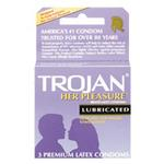Trojan Condoms 3pk Light Purple Her Pleasure Lubricated