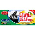 Lawn  and  Leaf Trash Bags 39gal 5ct Home Select Brand