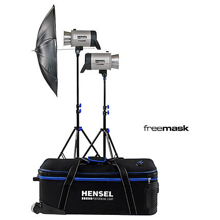 Hensel Integra Plus Power Factory Kit with Stands (1000 Total W/s)