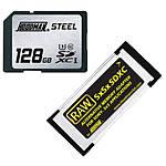 Hoodman Steel 128GB SDXC UHS-1 Class 10 SxSxSDXC Memory Adapter Kit