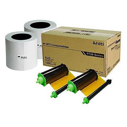 HiTi 4x6 Media for P720L Photo Printer (1000 sheets/roll, 2 rolls/carton)