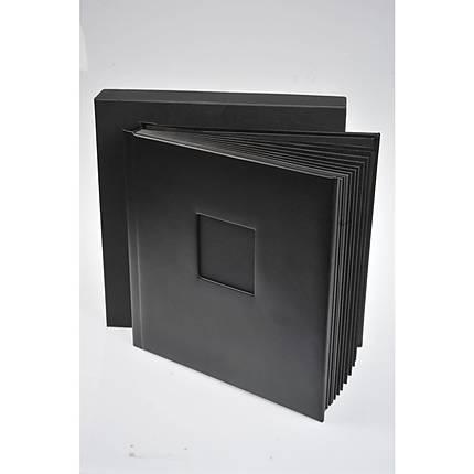 Unique Leather Album 5x5 15 pages 30 sides  (BLACK)