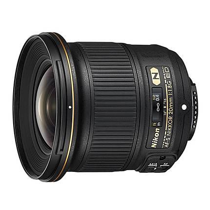 Nikon AF-S Nikkor 20mm f/1.8G ED Ultra Wide Angle Lens - Black