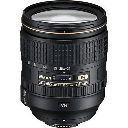 Nikon AF-S Nikkor 24-120mm f/4G ED VR Telephoto Zoom Lens - Black