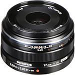 Olympus M.Zuiko Digital 17mm f/1.8 Wide Angle Lens - Black