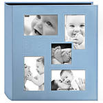 Pioneer 4 x 6 In. Collage Embossed Baby 4-UP Photo Album (240 Photos) - Blue