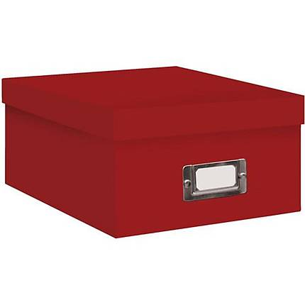 Pioneer Photo Albums 4x7 Photo Storage Box - Red