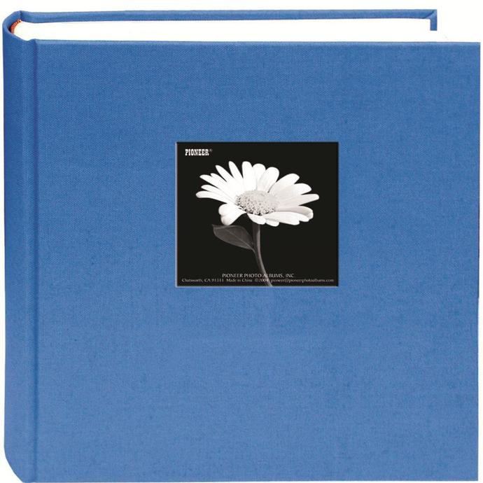 Pioneer 5x7 Cloth Frame Photo Album 200 Photos Blue