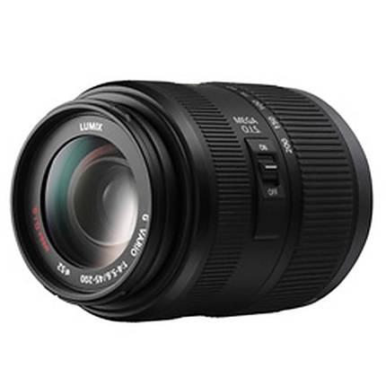 Panasonic Lumix G Vario 45-200mm f/4.0-5.6 Mega O.I.S Lens - Black