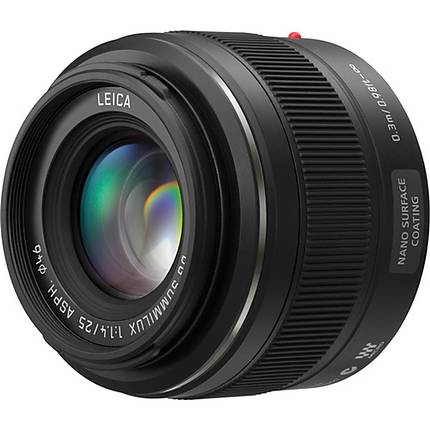 Panasonic Lumix G Micro 4/3 Leica DG Summilux 25mm f/1.4 ASPH. Lens - Black
