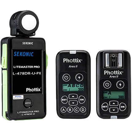 Sekonic L-478DR-U-PX Meter with Phottix ARES II Trigger and Receiver