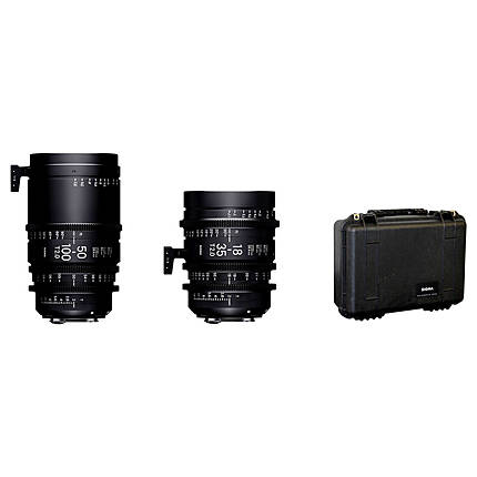 Sigma 18-35mm T2  and  50-100mm T2 Lenses with Case (Canon EF)