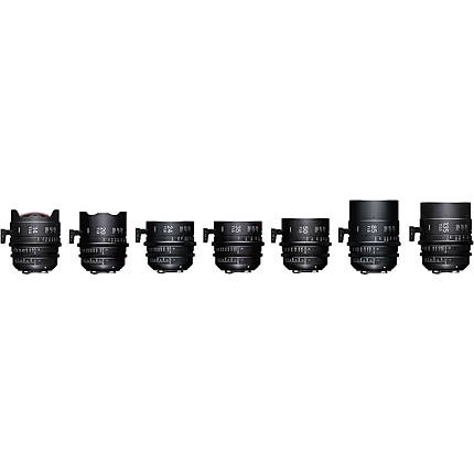 Sigma T2/T1.5 FF 7 Fully Luminous Lens Kit with Case (Canon EF)