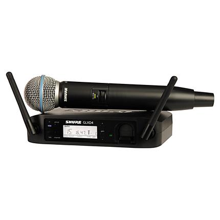 Shure GLXD24/Beta58A Handheld Wireless System (Z2 Band: 2400 - 2483.5 MHz)