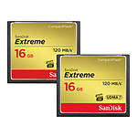 SanDisk Extreme CompactFlash 16GB 2-Pack up to 120 MB/s write 60 MB/s read
