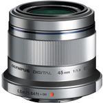 Olympus M.Zuiko Digital 45mm f/1.8 Lens Silver [L] - Excellent