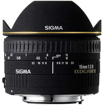 Used Sigma 15mm f/2.8 EX DG Fisheye for Canon EF - Excellent