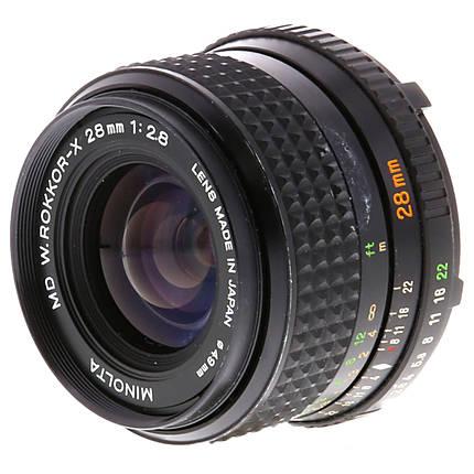 Used Minolta 28MM F/2.8 Rokkor-X MD Lens [L] - Good
