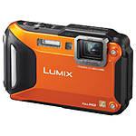 Used Panasonic DMC-TS5 Orange Tough Camera *No Charger* - Good