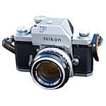 Used Nikon F 35MM SLR With Flag Finder **Meter not working** [F] - As is