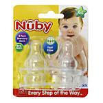 Nuby Silicone Nipples 4pk