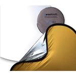 Westcott 42 Inch 4 - In - 1 Collapsible Reflector  Gold/Silver
