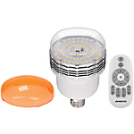 Westcott 45W Dimmable Daylight LED Bulb with Tungsten Gel Cap and Remote
