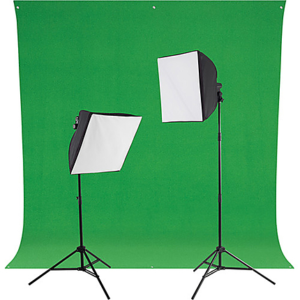 Westcott uLite LED 2-Light Green Screen Photo Kit