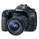 Canon EOS 80D Digital SLR Camera with 18 - 55mm STM Lens