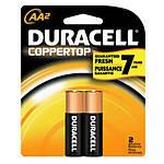Duracell Coppertop AA (2-pack) Alkaline Batteries (Case=56cards, 4bx x 14cds