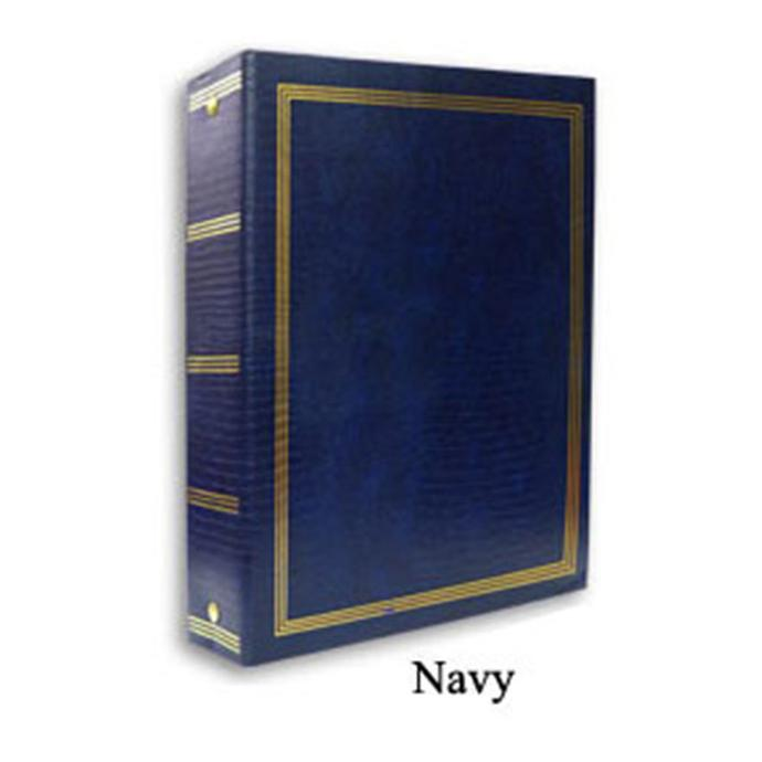 Pioneer 9 X 10 In Magnetic 3 Ring Photo Album 100 Pages Navy